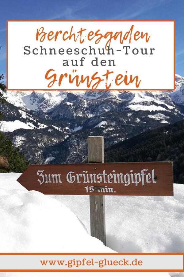 Schneeschuh Tour auf den Grünstein bei Ramsau in Berchtesgaden, Bayern