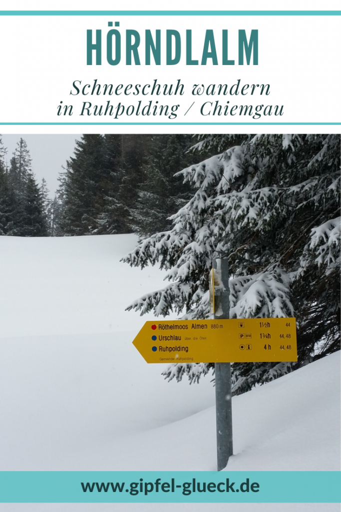 Mit Schneeschuhen auf die Hörndlalm bei Ruhpolding im Chiemgau