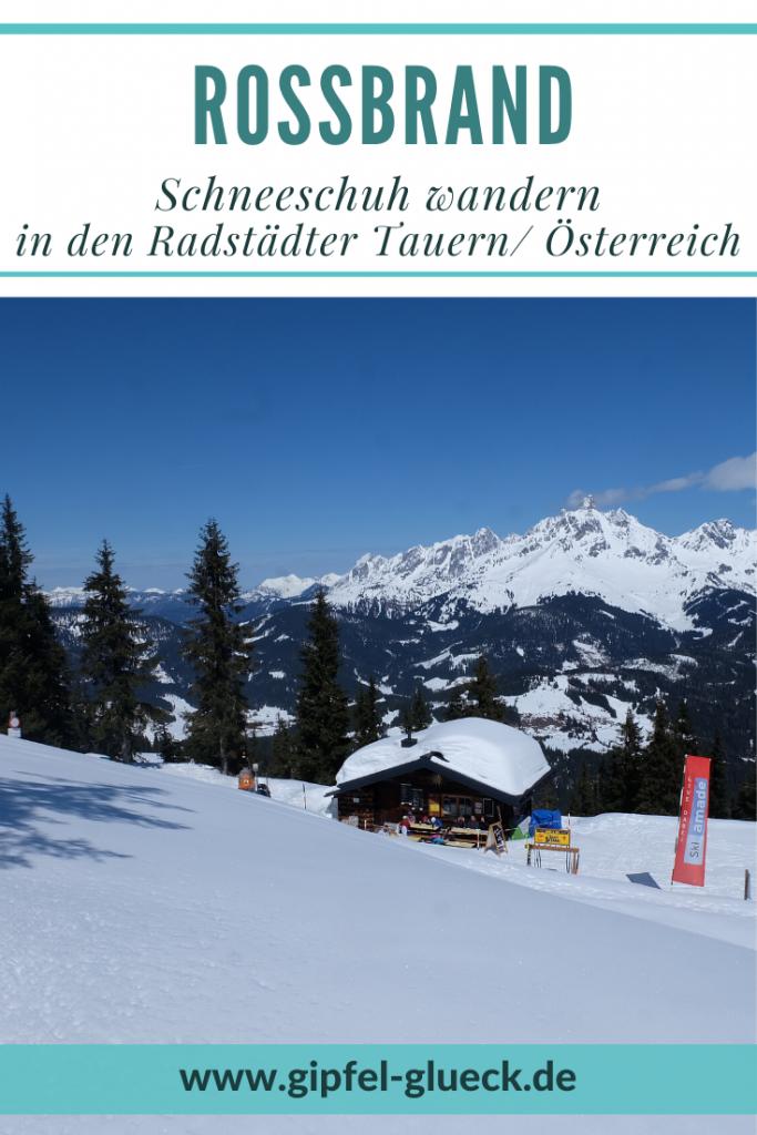 Auf den Rossbrand im Winter - schneeschuh wandern in den Radstädter Tauern, Pongau, Salzburg, Österreich