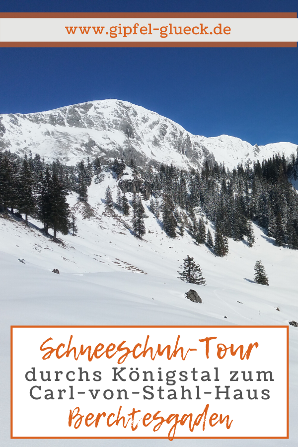 Mit Schneeschuhen durchs Königstal zum Stahl-Haus im Nationalpark Berchtesgaden, Bayern