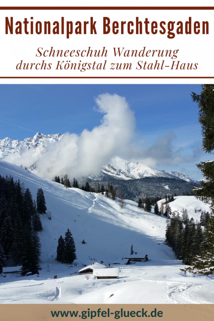 Schneeschuh-Tour vom Königssee zum Stahl-Haus in Berchtesgaden, Bayern