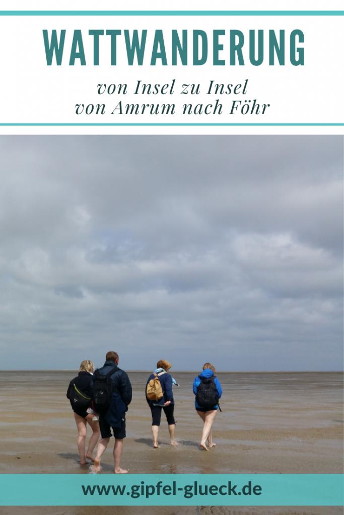 Wattwanderung von Insel zu Insel in der Nordsee von Amrum nach Föhr