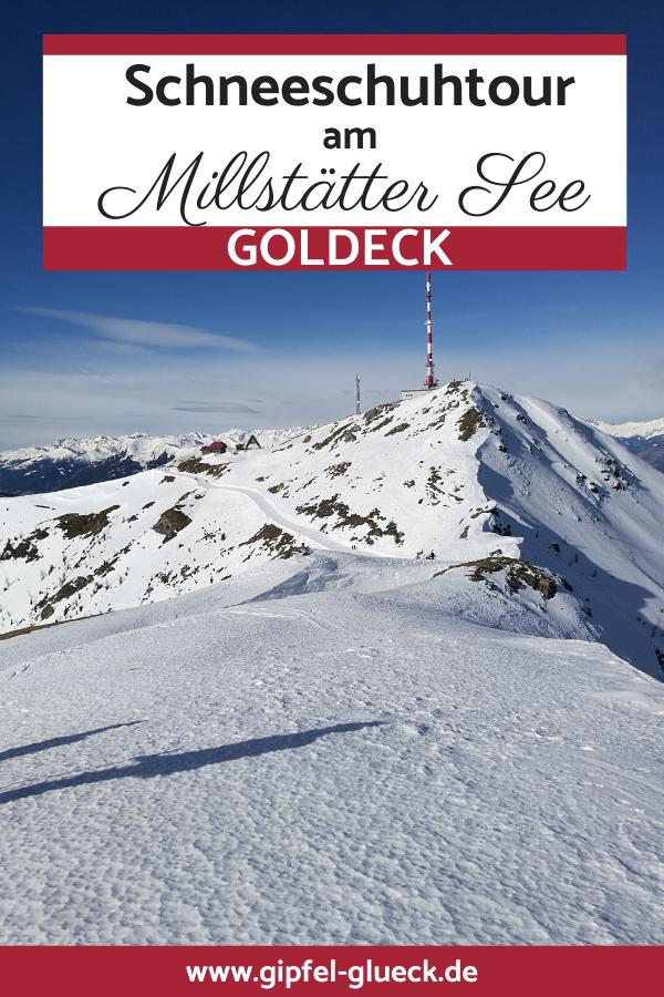 Schneeschuhtour aufs Goldeck am Millstätter See in Kärnten
