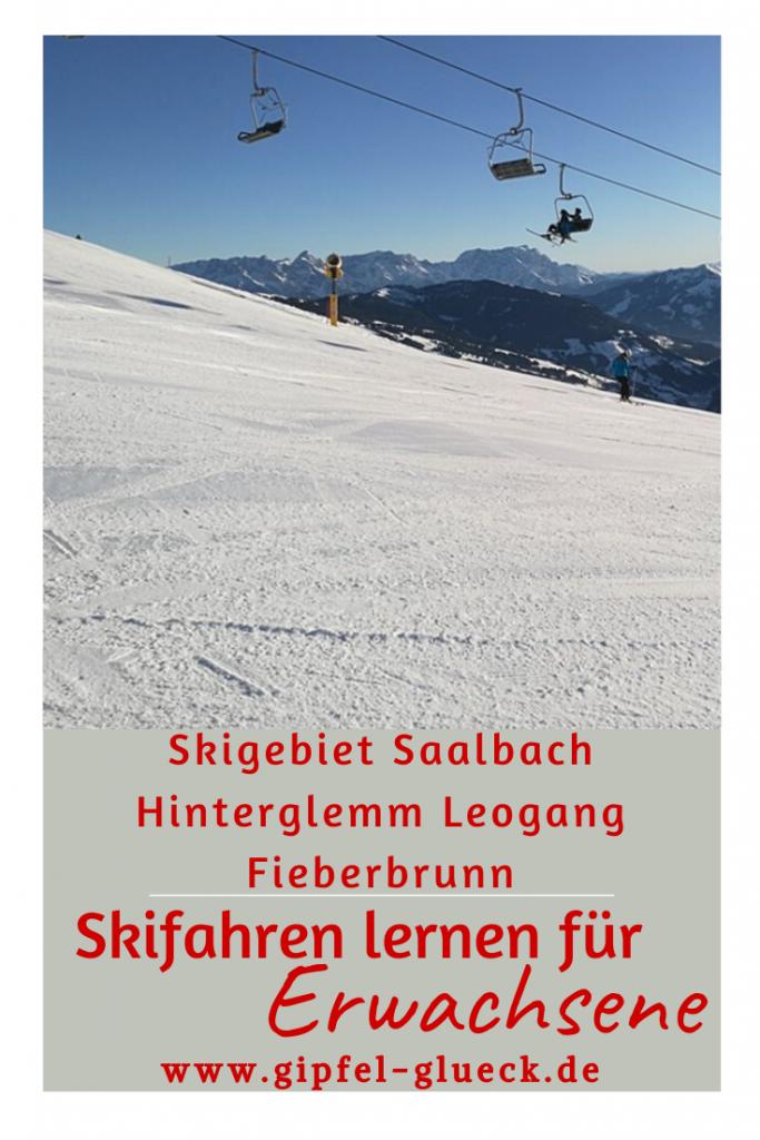 Skifahren für Neulinge im Skigebiet Saalbach in Österreich