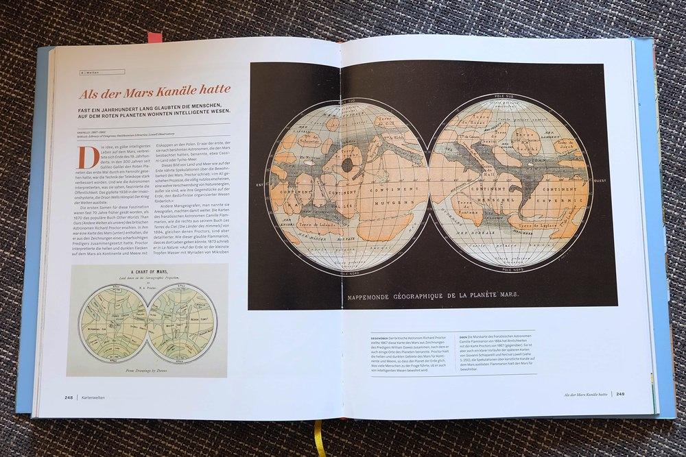 Eine Karte vom Mars bei Kartenwelten