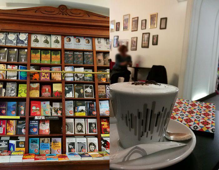 Bücher und Kaffee in Lissabon