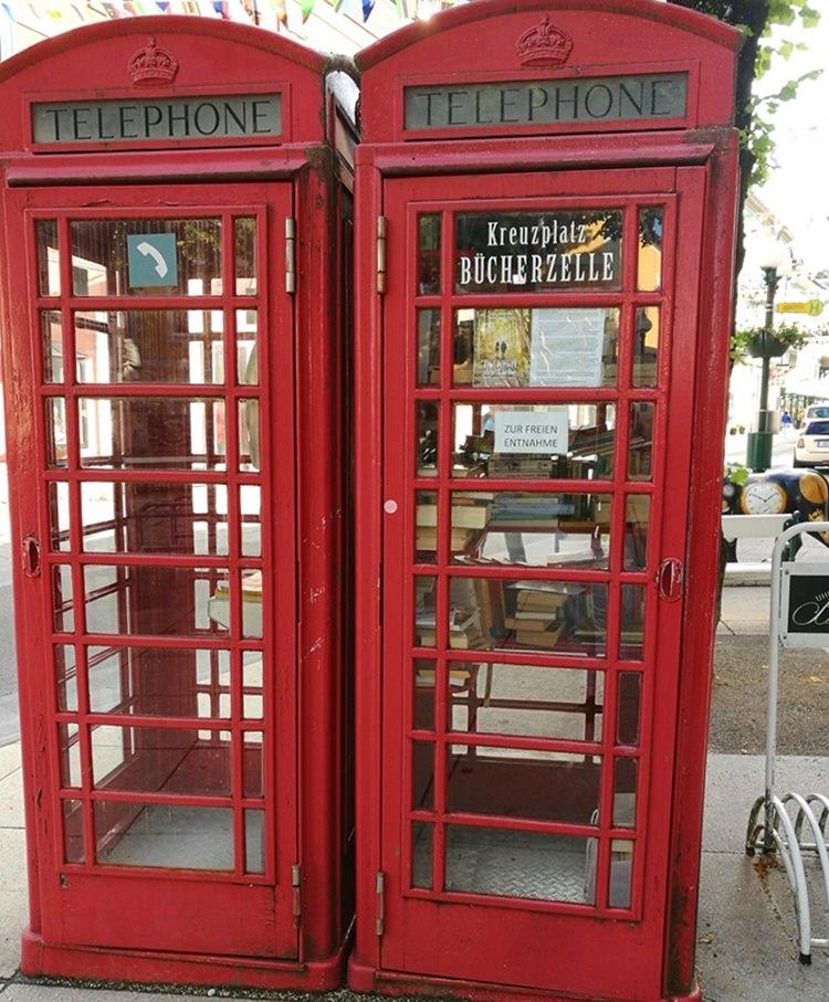 Bücher-Telefonzelle in Bad Ischl