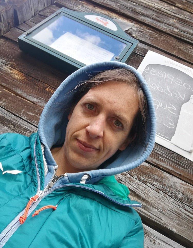 Selfie an der Zandlacher Hütte