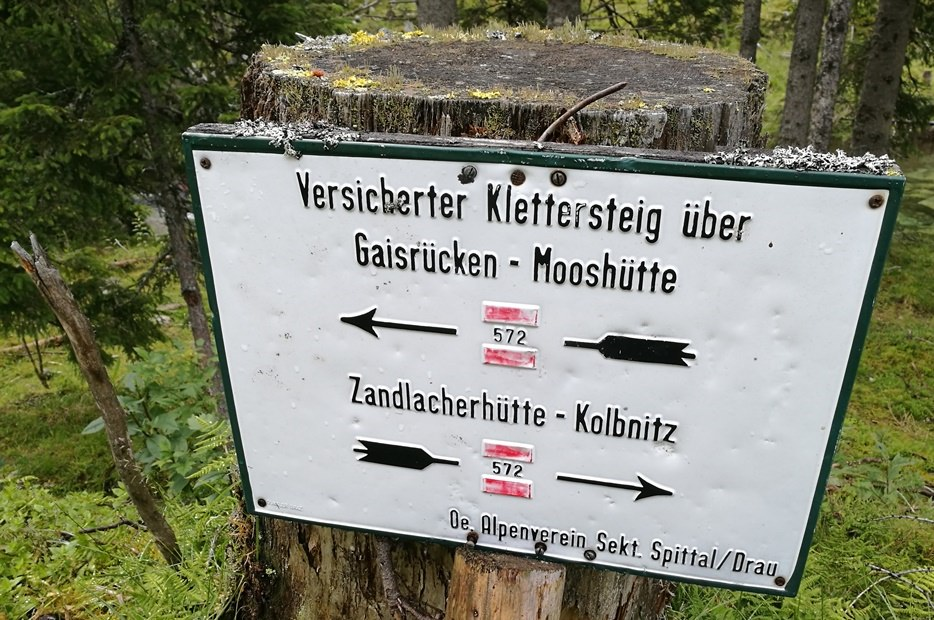 Hüttenwochenende in Kärnten: Wegweiser im Riekental/ Reißeck Gruppe