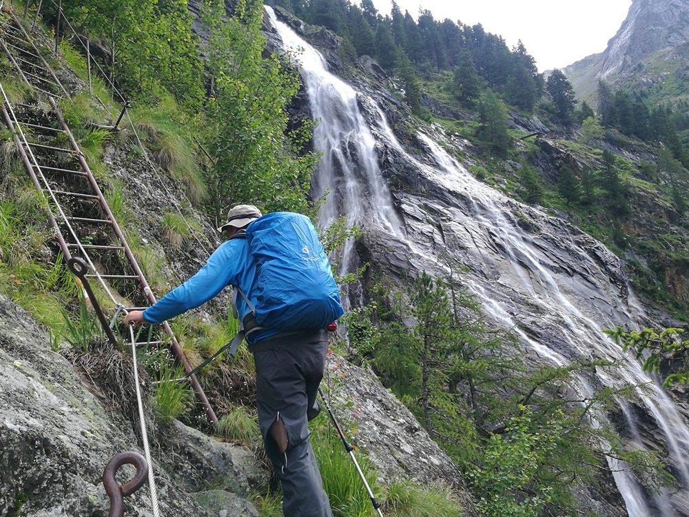 Klettersteig am Rieken Wasserfall/ Kärnten