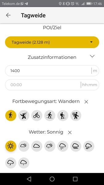 Touren eintragen schnell gemacht in der SummitLynx App