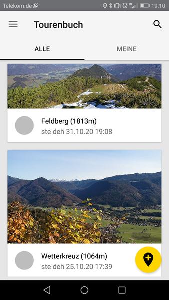 Tourenbuch in der SummitLynx App