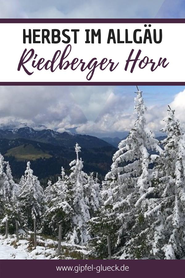 Herbst im Allgäu: Wanderung auf das Riedberger Horn bei Balderschwang