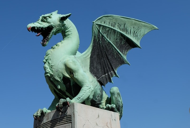 Drache in Sloweniens Hauptstadt Ljubljana