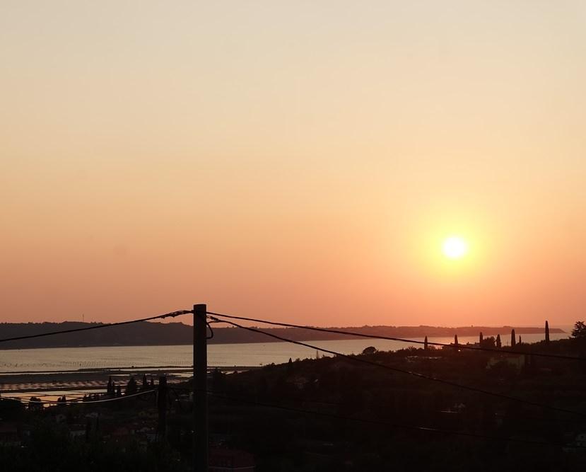 Sonnenuntergang in Portoroz an der Adria