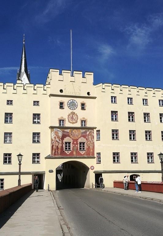 Stadttor und Innbrücke Wasserburg