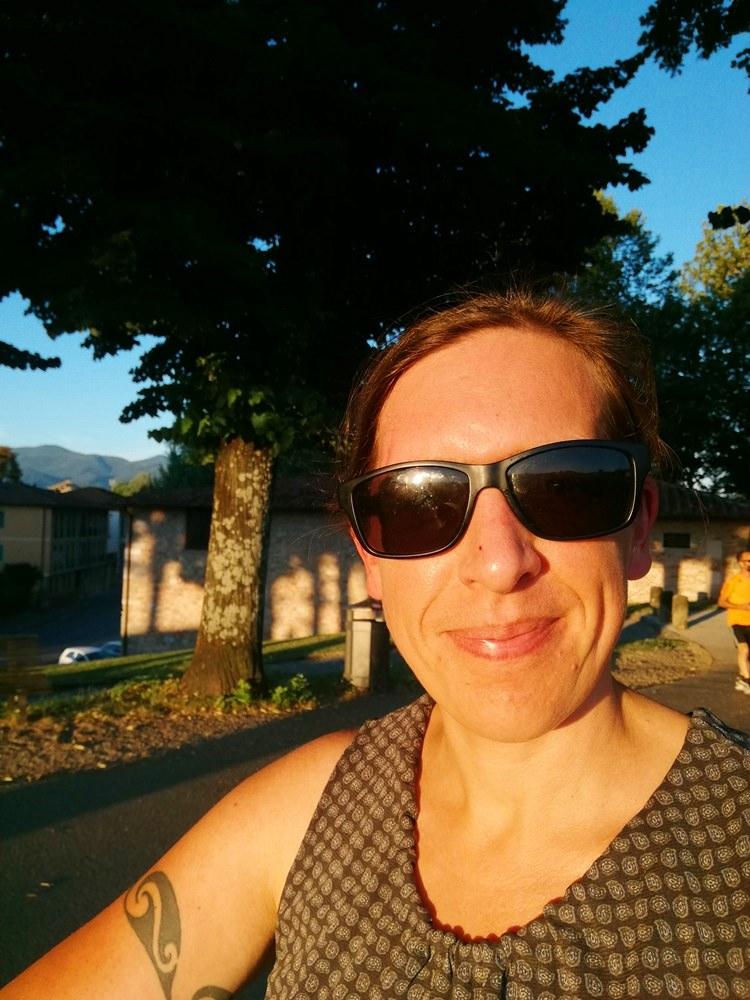 Stefanie Dehler  - Selfie in der Abendsonne