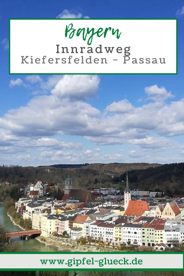 Fluss-Radweg am Inn in Bayern